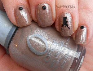 Orly Night Owl, bigRuby deer tattoo from the him set and black studs from Cheeky on Amazon