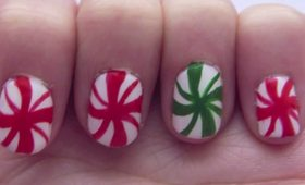 Christmas Peppermint Nails