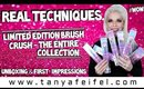 Real Techniques Brush Crush - The Entire Collection | Unboxing & 1st Impression #Wow! | Tanya Feifel