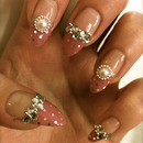 Pink French Tip Gyaru Nails