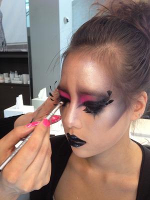 Avant-garde Makeup by Blanche Macdonald Makeup artist Jaylene McRae.