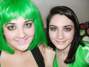 Me and my sister on St. Patty's Day