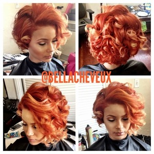 Photoshoot hair styling. (Curls)