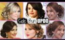 EASY SIDE BUN Hair Tutorial! │ Quick MESSY SIDE BUN │ Jennifer Lawrence UPDO Hairstyle