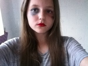 Not very good but here's my Harley Quinn look