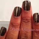 Brown with gold stripes