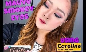 MAUVE SMOKEY EYES + CARELINE PRODUCT REVIEW | CLAIRE LINGAN (PHILIPPINES)