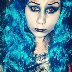 """Look inspired by Tim Burton's """"Corpse Bride""""."""