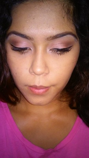 so im getting into eyeshadow now i just wanna know what you girls think from a perspective besides mine. Opinions on what to change or do? id really appreciate it thanks!(: products used: *nyx love in paris palette called merci beaucoup *loreal liquid liner *makeup forever smoky extravagant mascara