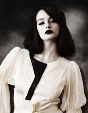 black lip, eyeliner, avant garde