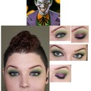 Joker Inspired makeup with mohawk