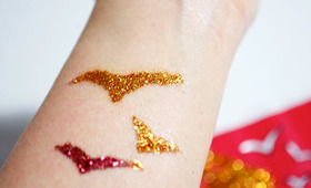 DIY Glitter Tattoos
