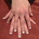 cute nail art with shellac polish