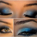 Gorgeous Blue Makeup