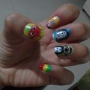 cloudy with a chance of meatballs nails