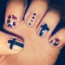 Vintage cross nails