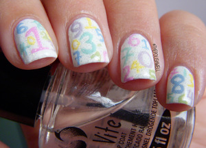 Pastel numbered nails <3 http://thepolishwell.blogspot.com/2012/08/nail-ideas-back-to-school-nails.html