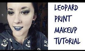 Leopard Print Makeup! | Psychobilly/Rockabilly inspired.