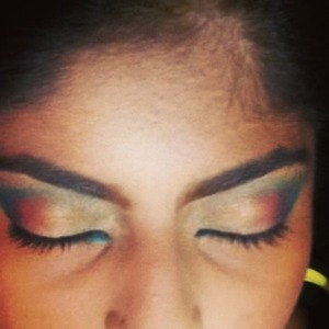 Here's a sunset inspired eyemakeup done for my client for her engagement