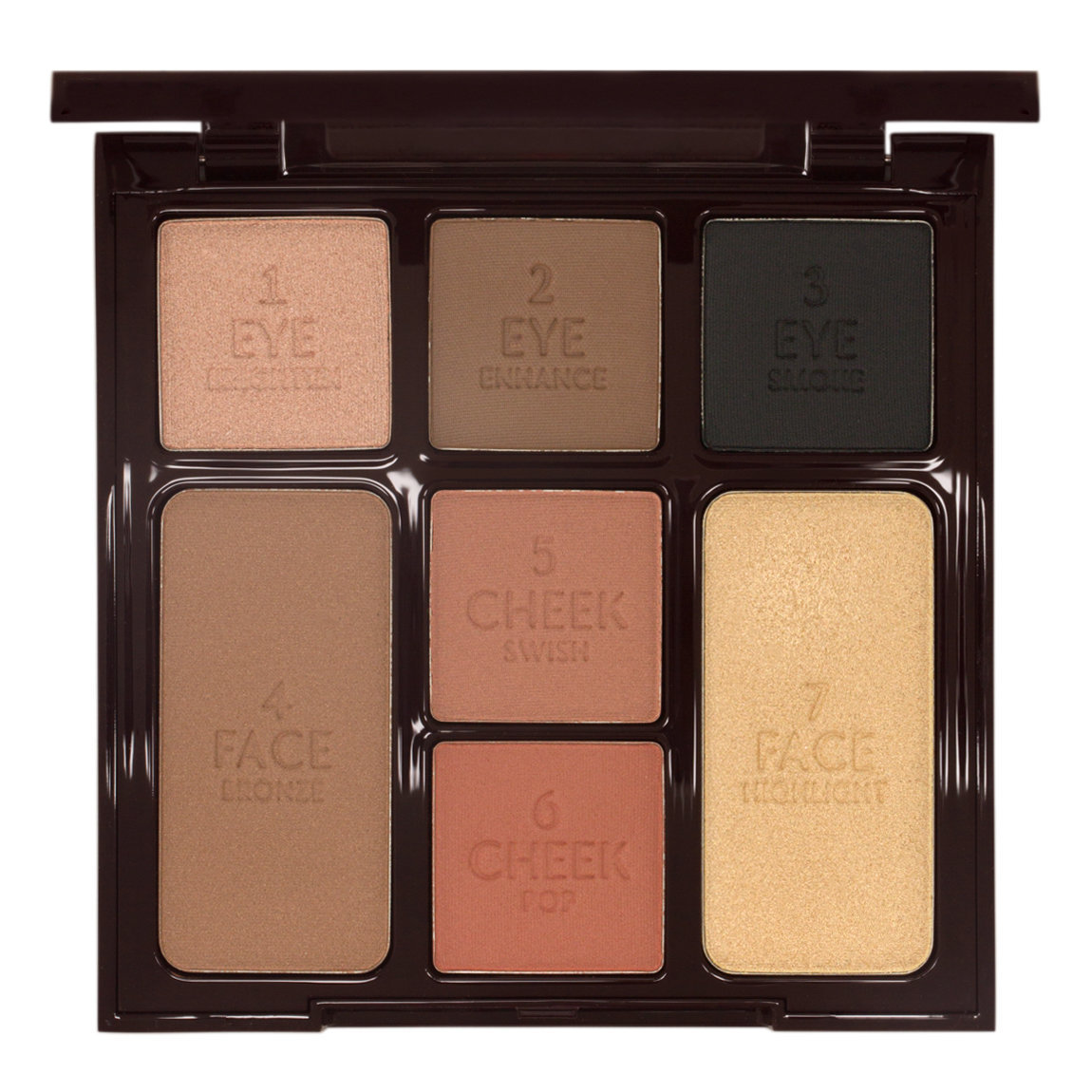 Charlotte Tilbury Instant Look in a Palette Smokey Eye Beauty product smear.