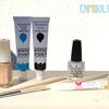 Materials Caviar manicure and animal print