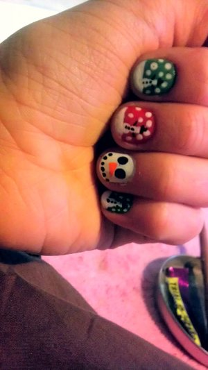 Christmas nails last year