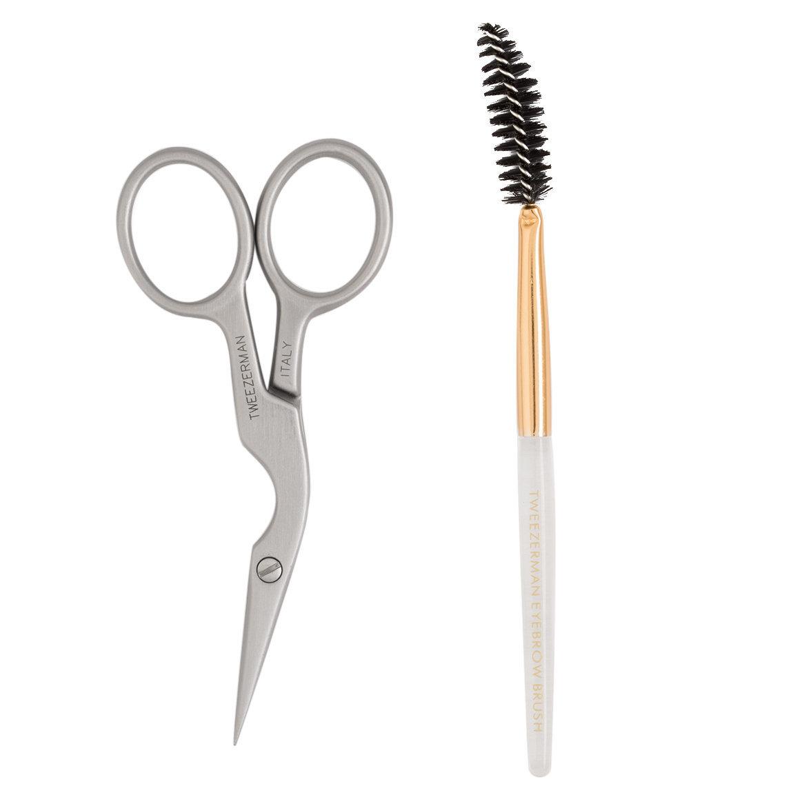 Tweezerman Brow Shaping Scissors & Brush product swatch.
