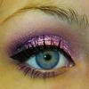 Valentine's pink glitter eyeshadow