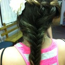 fish tail and water fall braids