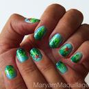 Aquatic Ombré Nail Art