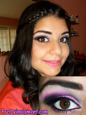 I created this look in honor of my blogs (prettyinpigment.com) 2nd birthday!