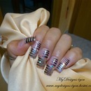 Easy Stripy Nails