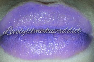 Made a lipstick with purple crayons :)