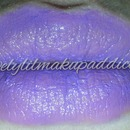Purple crayon lipstick