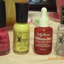 Products for first ever China Glaze Crackle Glaze use