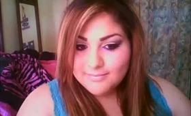 Neutral/ purple look, makeup
