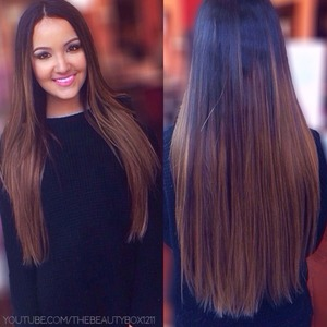 "Bellami extensions in ash brown! Use code ""beautybox"" for a discount :)"