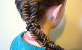 Side Braid, Twist Wrapped Fishtail Hairstyle