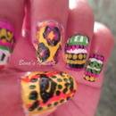 Hand Painted Tribal Look