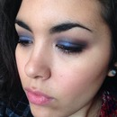 Vibrant blue eye look
