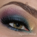 Colourful smokey eye