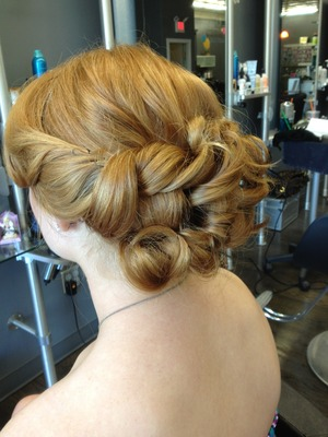 Prom up-do, beautiful hair color and texture