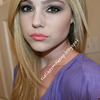 Purple Toned Eyeshadow | Peach Lips | Daytime Makeup