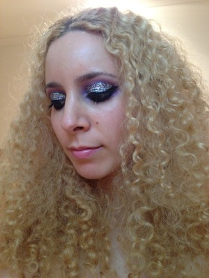 My New Years Eve FOTD. I couldn't resist my MAC 3D Silver and a purple smokey eye behind it for some massive party sparkle!  http://michtymaxx.blogspot.com.au/2012/12/new-years-eve-makeup.html