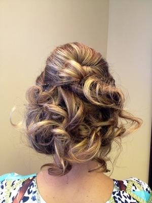 another updo, for a very long hair