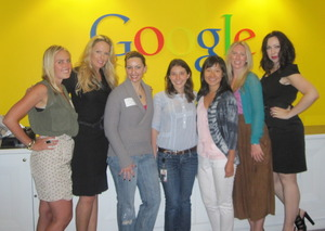 Ambers Notebook, Self Tan Queen, FashionCHICsta (me), Inci and Lisa with Google, London Ifabbo Partner, and The Makeup Snob