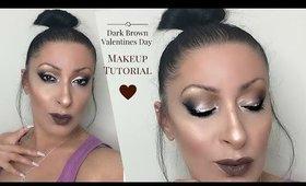 Dark Brown Valentines Day | Makeup Tutorial