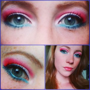 red, white, blue make up inspired by the dutch flag