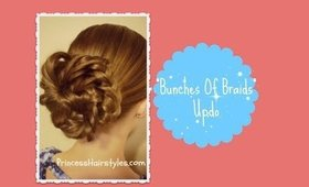 """Bunches Of Braids"" Updo Hairstyle Tutorial"