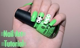 Easy St. Patricks Day Panda - Nail Art Tutorial